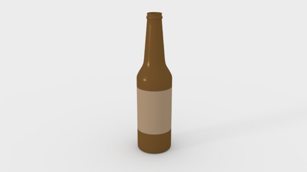 3D model bottle beer