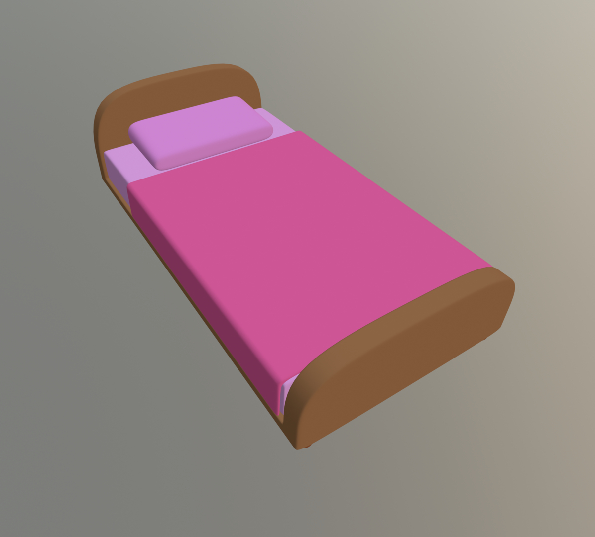 bed cartoon toon model