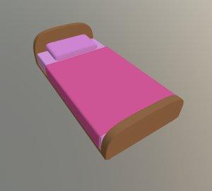 bed cartoon toon model