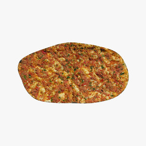 3D turkish lahmacun