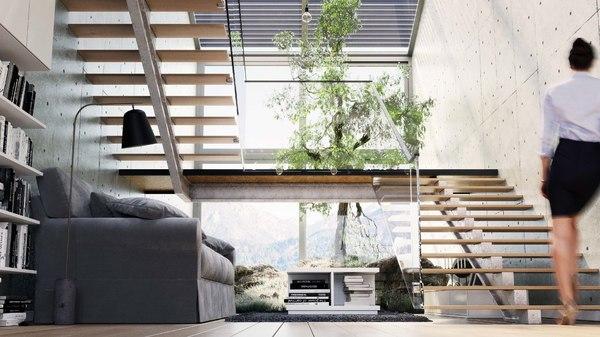 3D interior designed baked