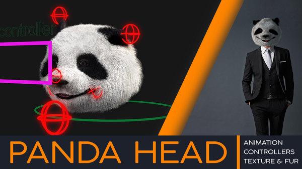 3D panda head