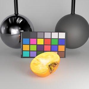 half persimmon 3D
