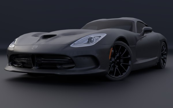 3D model dodge viper gts