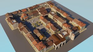 small town blender 3D model