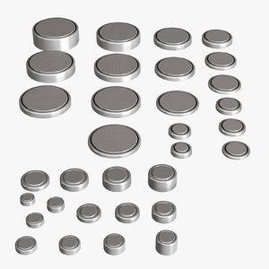 3D batteries set