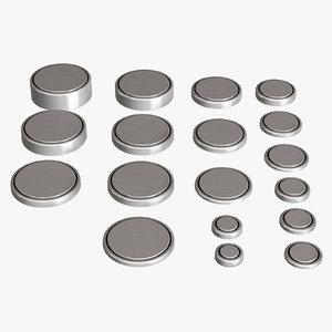 3D batteries cr set