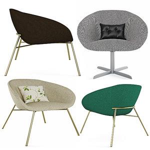 3D love armchair model