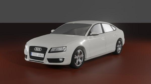 3D audi a5 2009 model