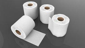 tissue paper roll 3D model