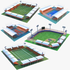 real stadiums 3D model
