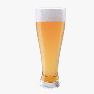 3D beer glass