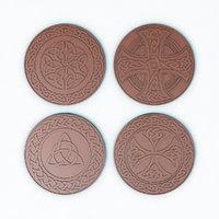 coins medals celtic patterns model