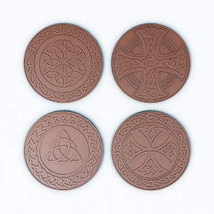 coins medals celtic patterns model