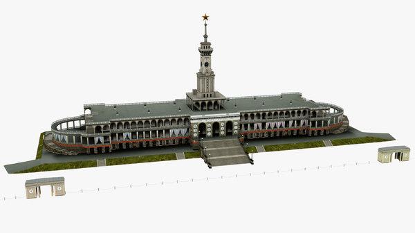 building river station 3D model