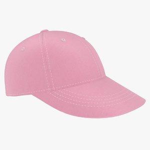 3D baseball hat pink