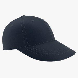 baseball hat dark blue 3D