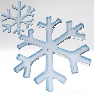 snowflake snow flake 3D