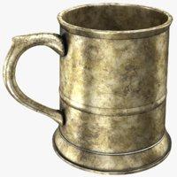 real pewter mug 3D model