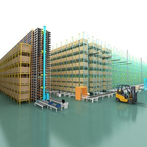 3D warehouse storing facilities model