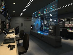 3D command deck starship model
