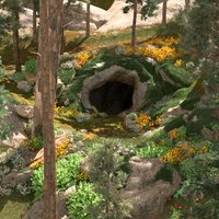 cave entrance jungle 3D