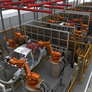 3D car welding manufacturers model