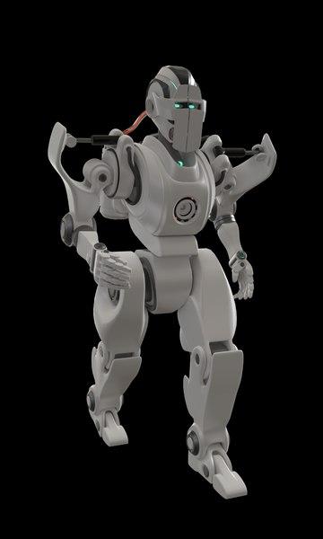 3D humanoid robot character