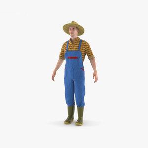 farmer farm 3D model
