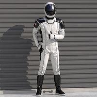3D futuristic astronaut space suit