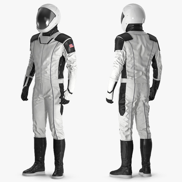 futuristic astronaut space suit 3D model