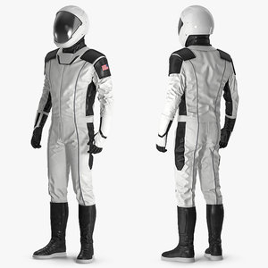 futuristic astronaut space suit 3D model
