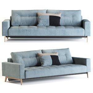 3D idun sofa bed model