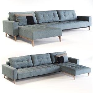 bed lounger 3D model