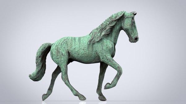 monument horse 3D