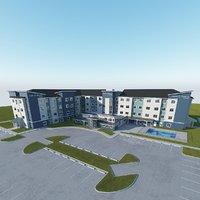 hotel building 3D