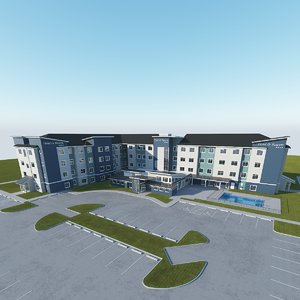 hotel building 3D