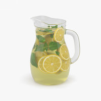 3D lemonade pitcher lemon