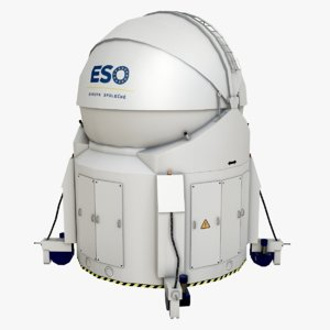 large telescope 3D model