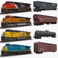 3D diesel locomotive ge es44ac