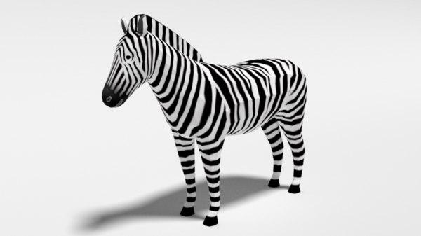 zebra nature 3D model