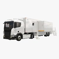 generic mobile office truck 3D model