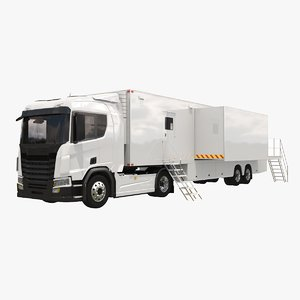 generic mobile office truck 3D model