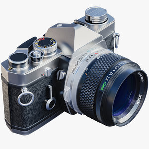 3D vintage photo camera