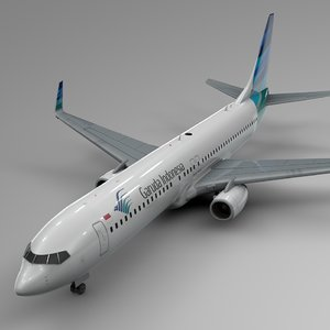3D model garuda indonesia boeing 737-800