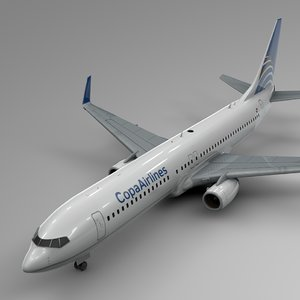 3D copa airlines boeing 737-800 model