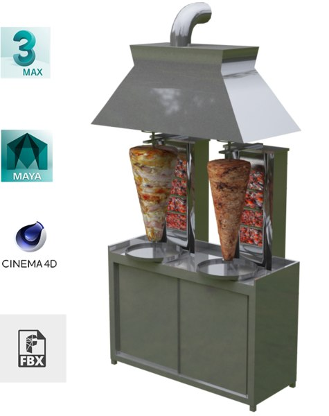doner machine flue 3D model