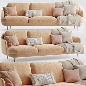 fritz hansen lune sofa 3D