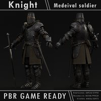 knight character pbr ready 3D model
