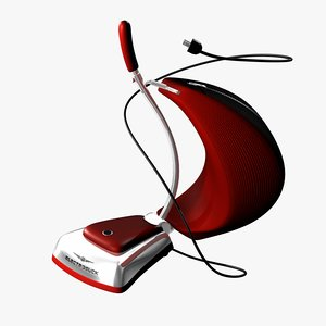 3D cartoon vacuum cleaner